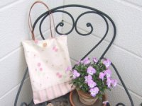 バラとストライプのバッグのキット