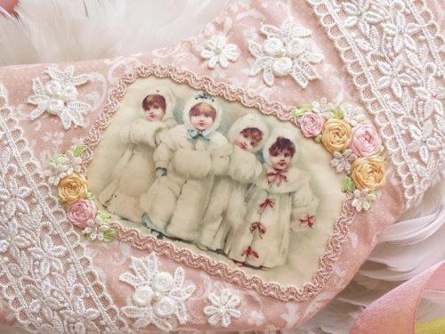 他の写真2: 冬の少女たちのクリスマスブーツのキット