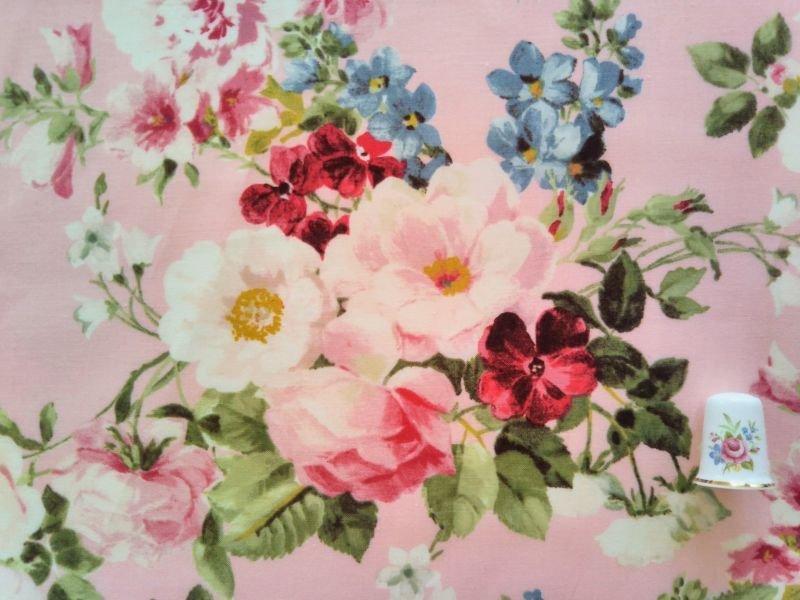 画像1: 大きな花柄