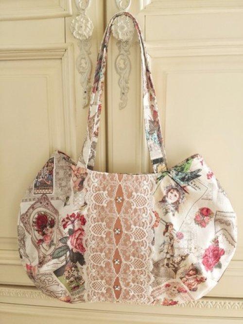 他の写真2: ヴィクトリアンな転写柄のバッグ完成品 (akiko)