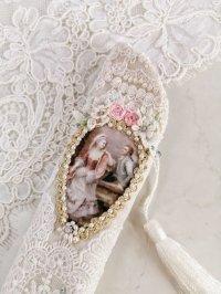 ヴィクトリアンなリボン刺繍の扇子ケース完成品  (akiko)