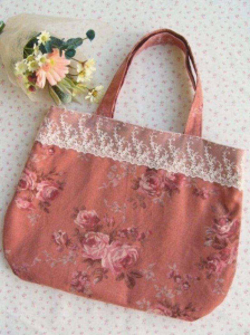 画像1: レースのバッグ(ピンク)のキット