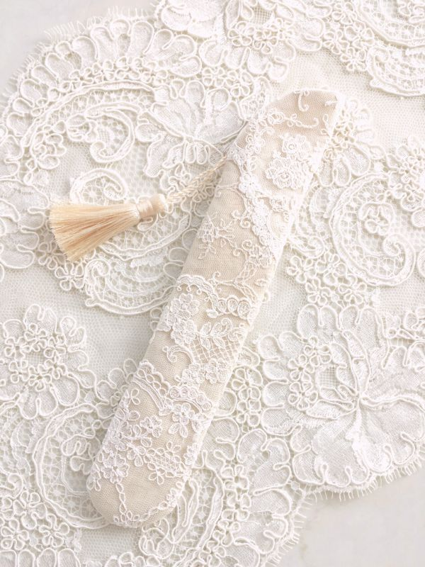 画像3: リボン刺繍のジュエリーのような扇子ケース完成品 (akiko)